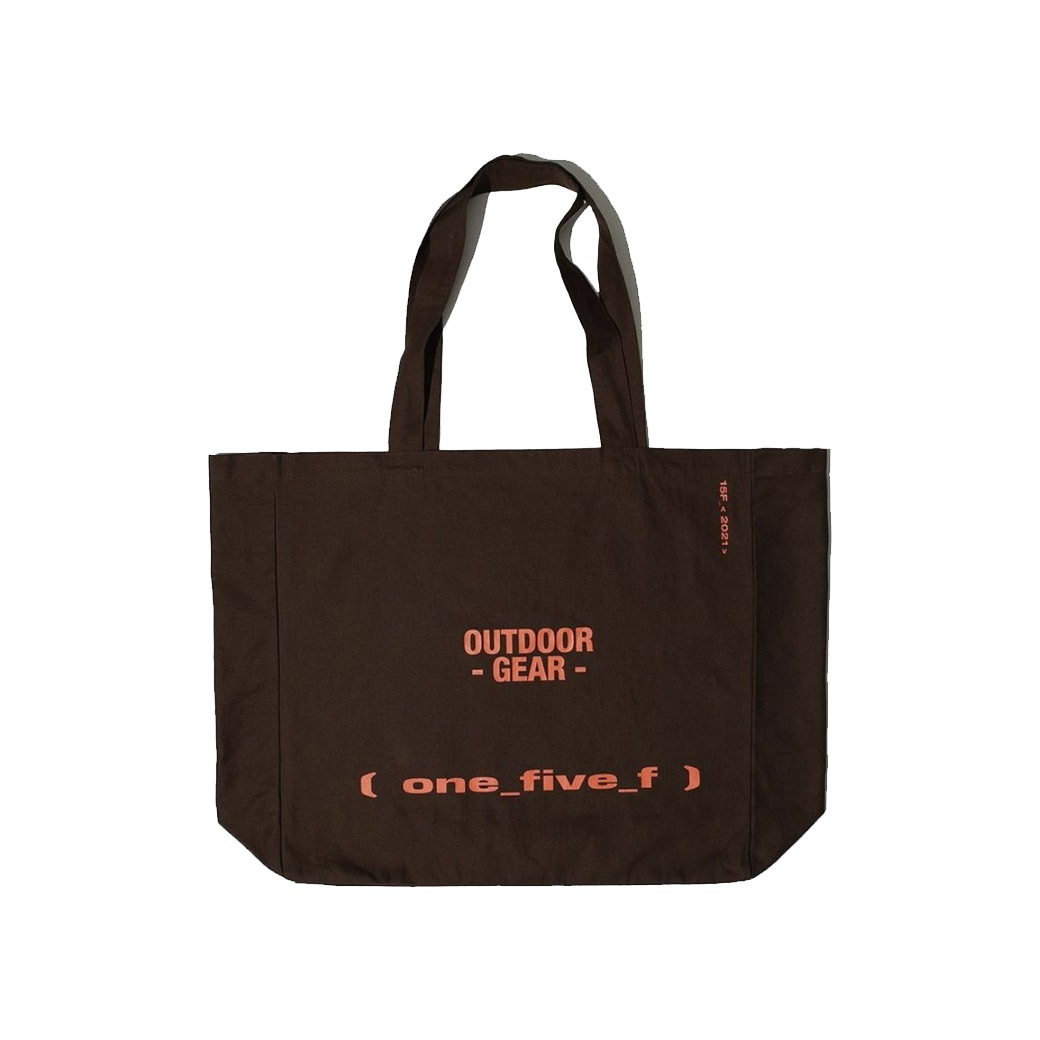 15F OUTDOOR GEAR OVERSIZED TOTE BAG BROWN