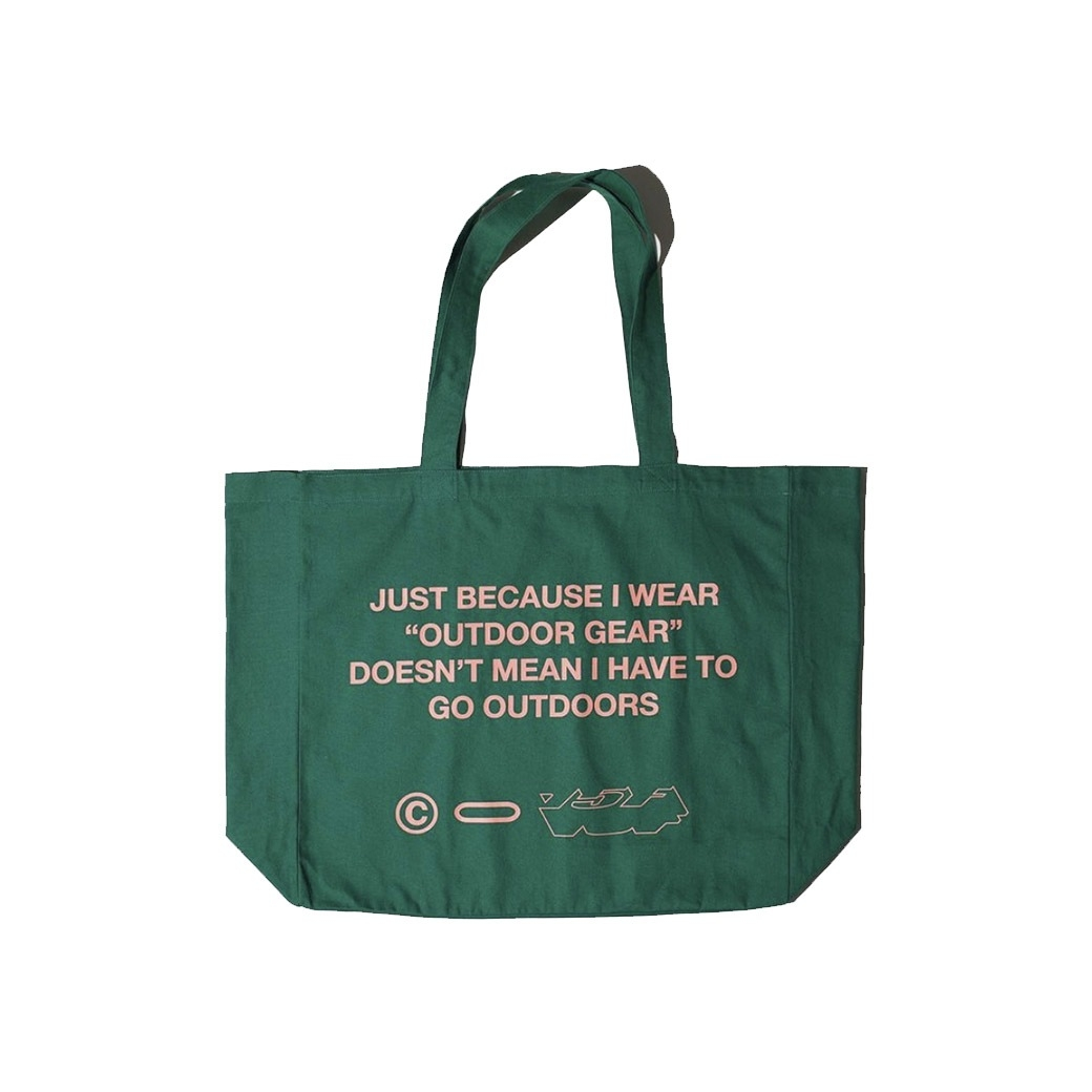 15F OUTDOOR GEAR OVERSIZED TOTE BAG GREEN