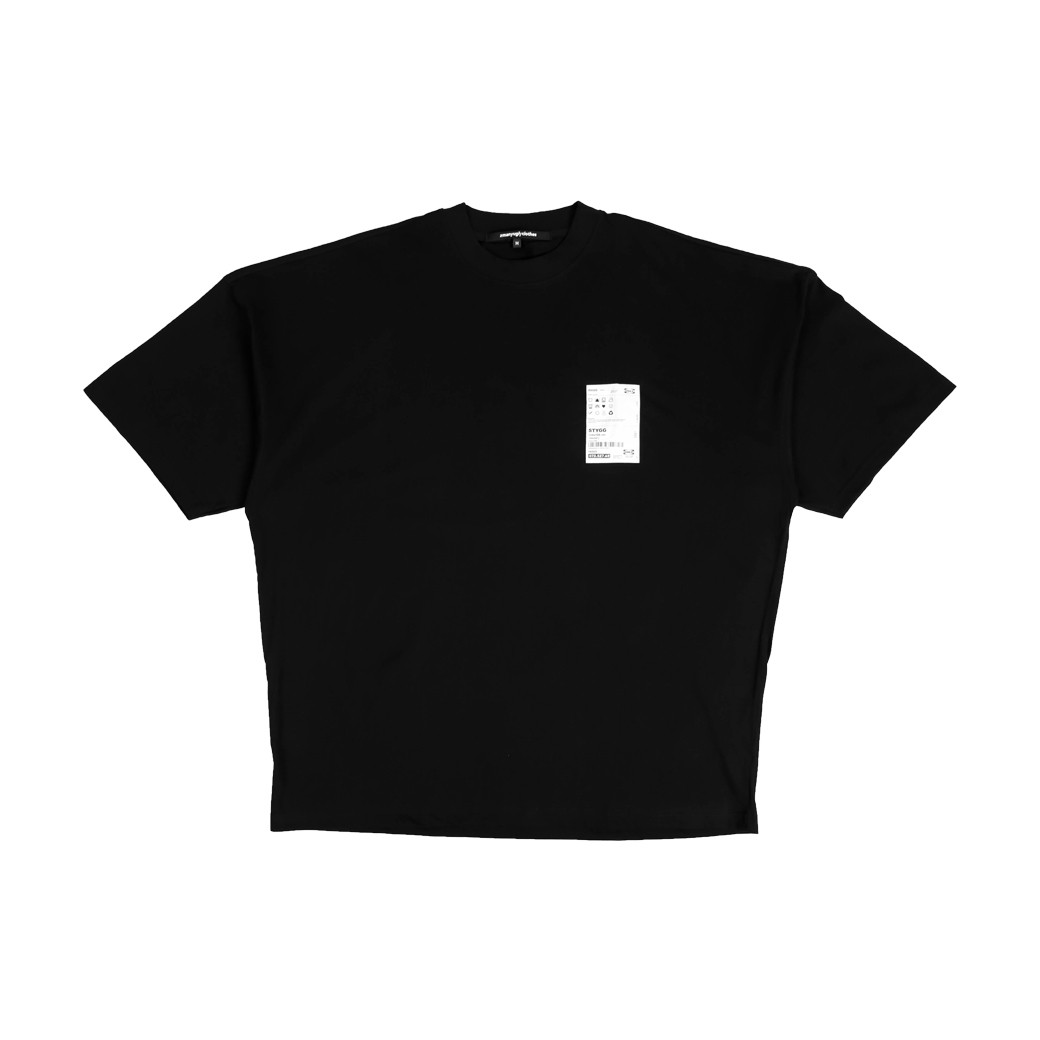 2MANYUGLYCLOTHES SO CALL WINTER TEE BLACK