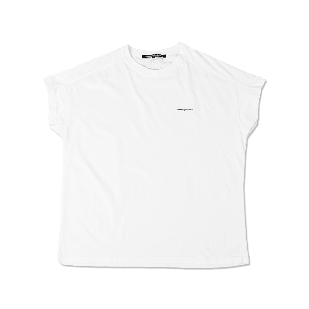 2MANYUGLYCLOTHES UGLY TEE WHITE