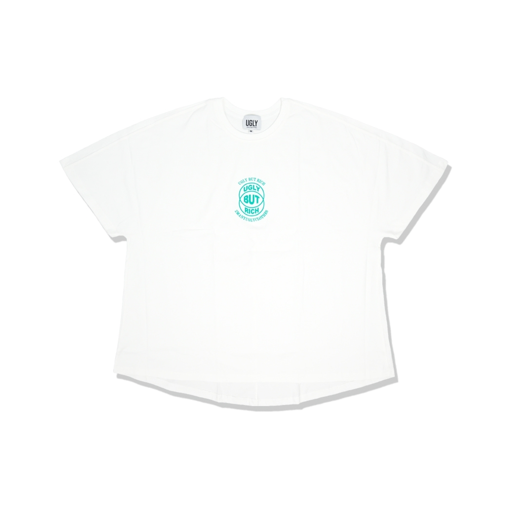 2MANYUGLYCLOTHES UGLY BUT RICH TEE WHITE