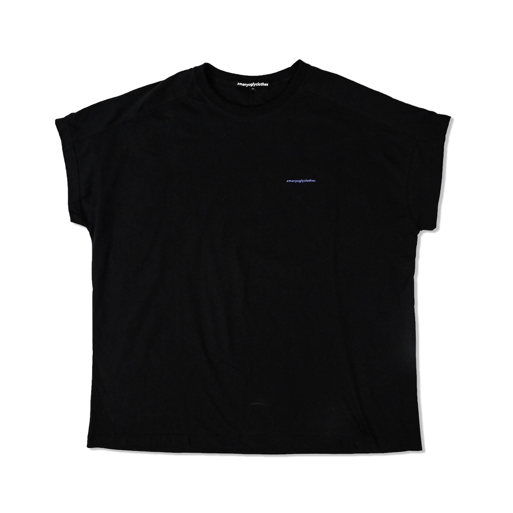 2MANYUGLYCLOTHES UGLY VIOLET LOGO TEE BLACK