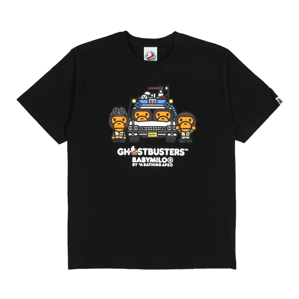 BAPE X GHOSTERS BABY MILO NO.4 TEE BLACK