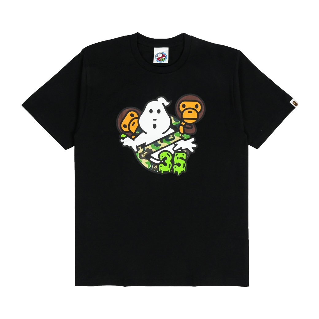 BAPE X GHOSTERS BABY MILO NO.6 TEE BLACK