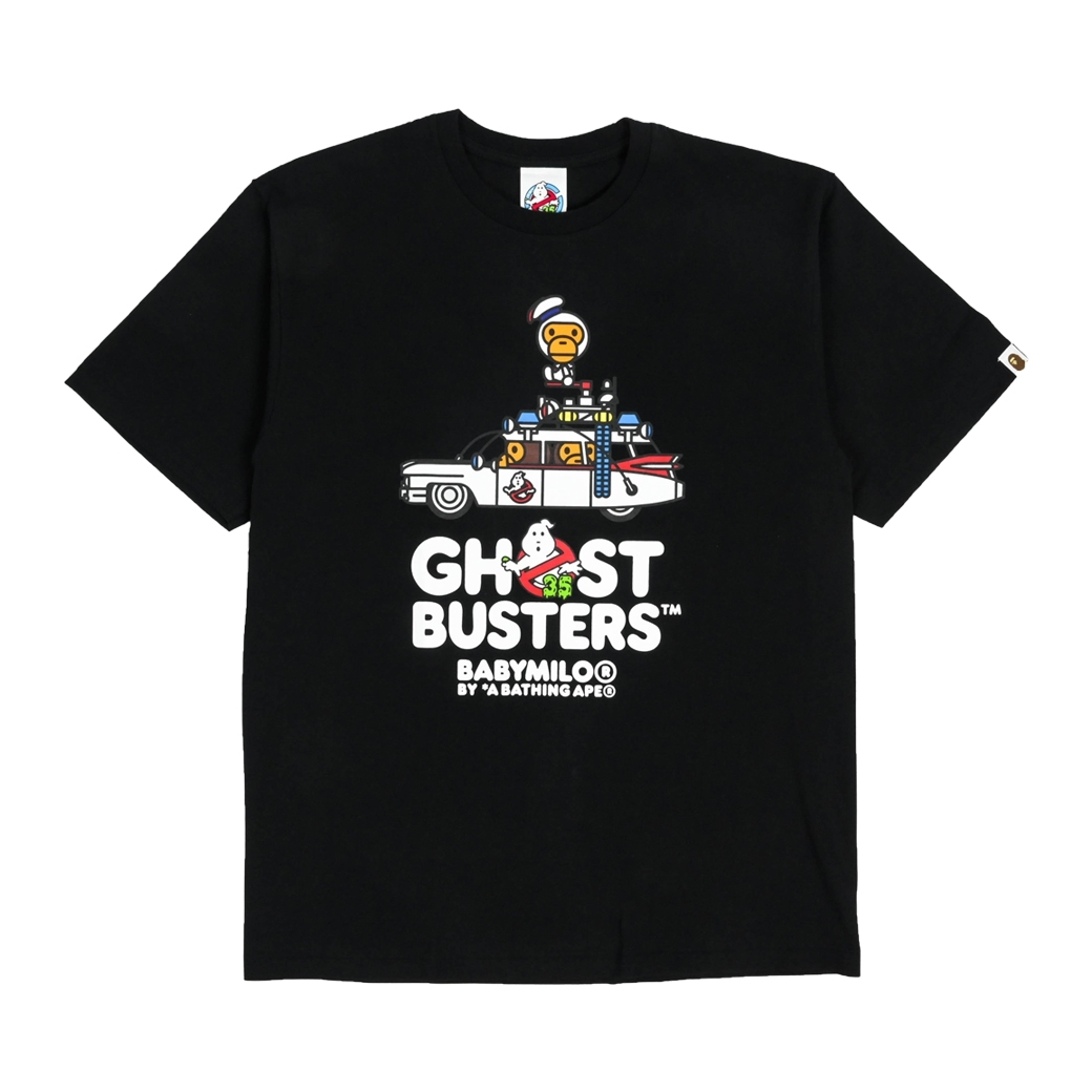 BAPE X GHOSTERS BABY MILO NO.3 TEE BLACK
