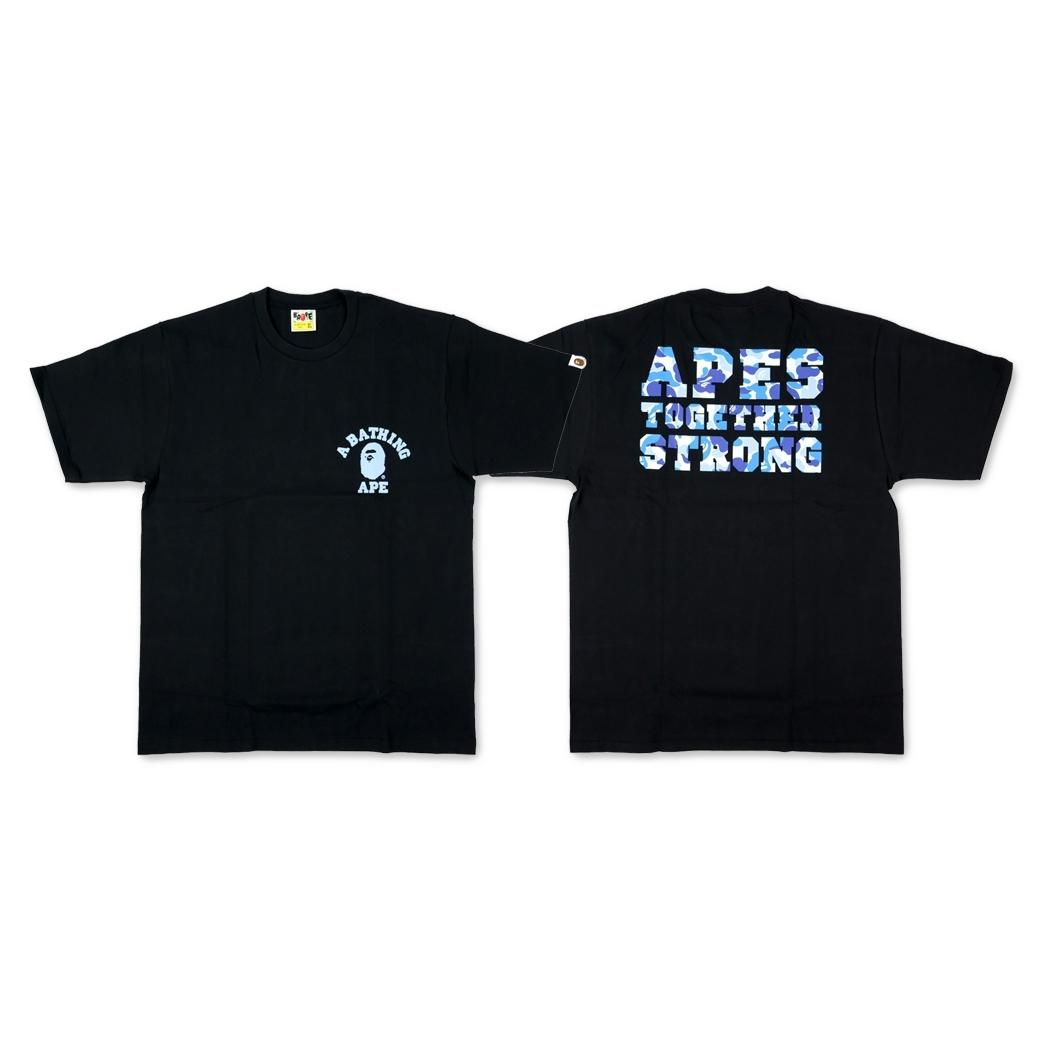 e5b81637f BAPE ABC COLLEGE ATS TEE BLACK/BLUE( XL )