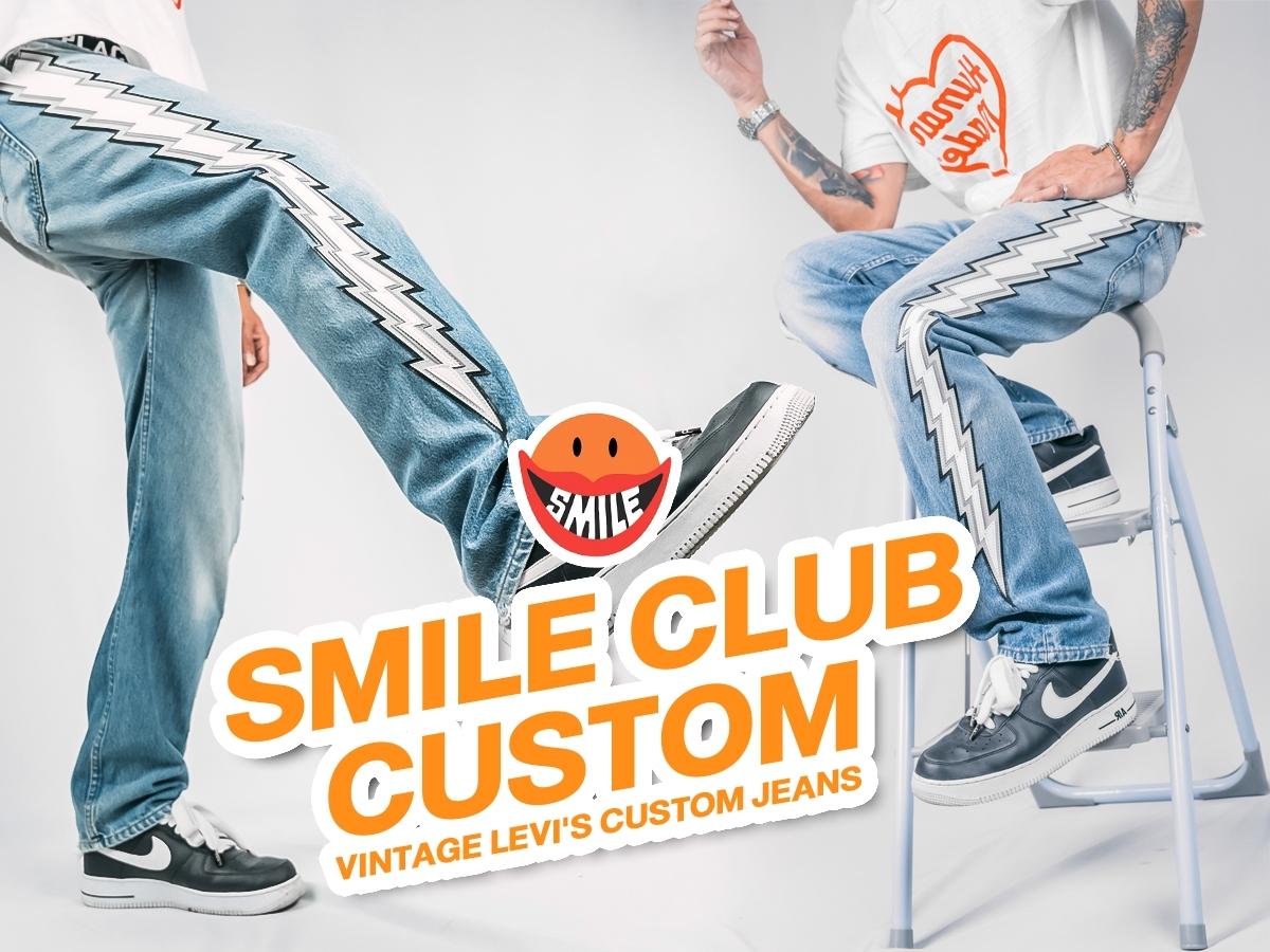 ที่สุดของความคลาสสิค! กางเกงยีนส์ Smile Club vtg Levi's Custom Track Jeans