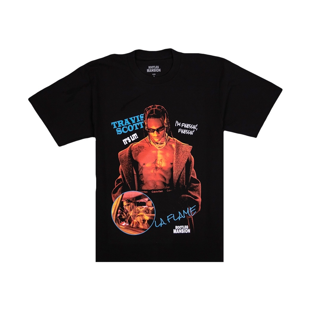 BOOTLEG MANSION TRAVIS SCOTT T-SHIRT BLACK