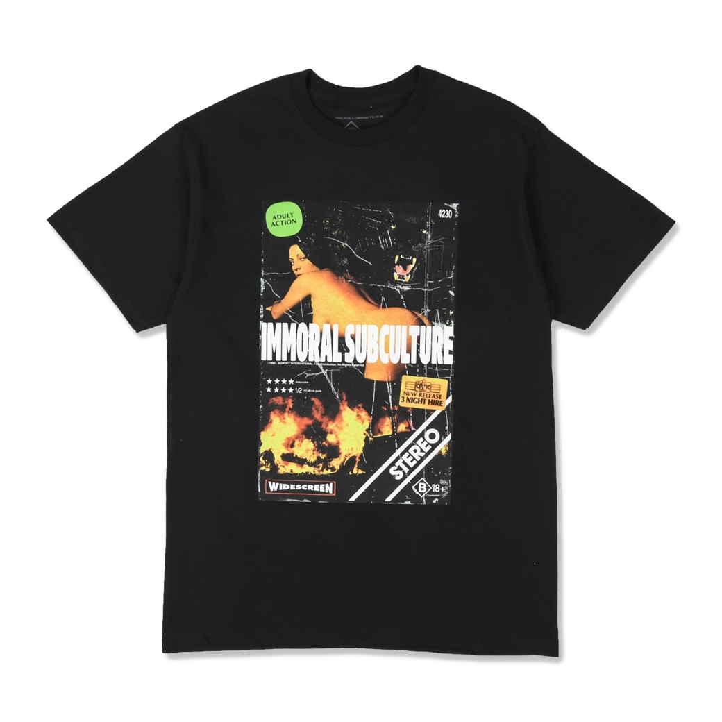 BOW3RY IMMORAL SS TEE BLACK