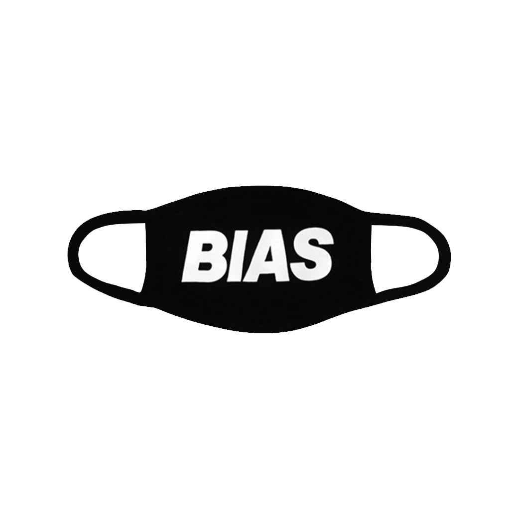 THE BIAS CLUB MASK LARGE LOGO BLACK