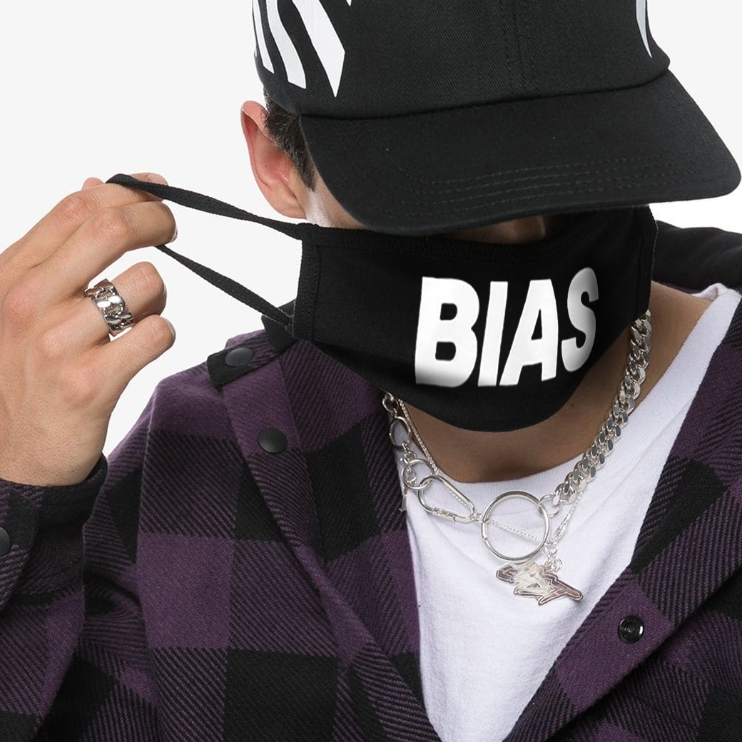 THE BIAS CLUB MASK LARGE LOGO BLACK