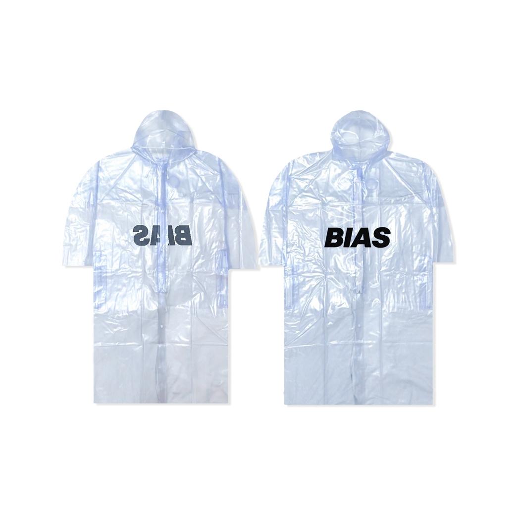 THE BIAS CLUB BACK RAINCOAT CLEAR/BLACK