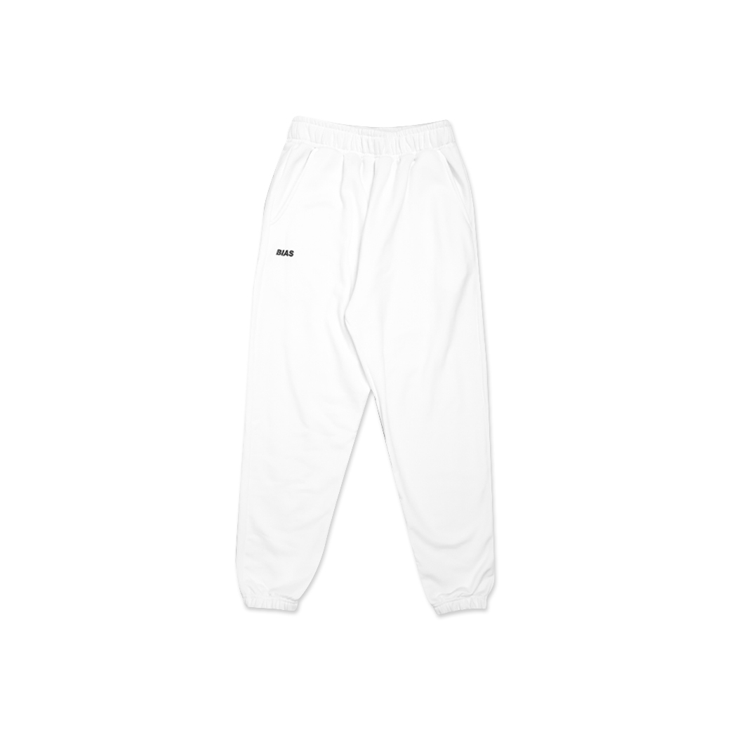 THE BIAS CLUB LOGO PANTS WHITE