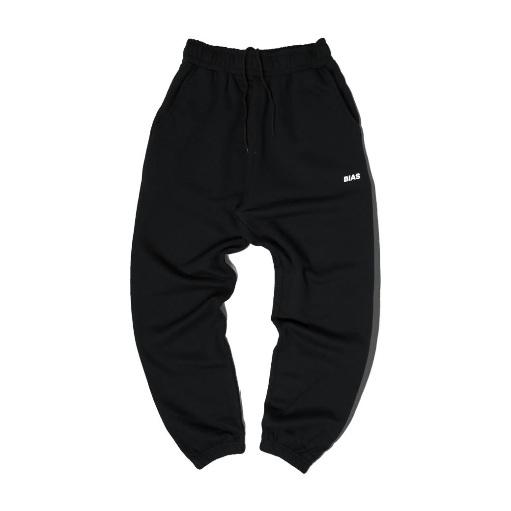THE BIAS CLUB LOGO PANTS BLACK