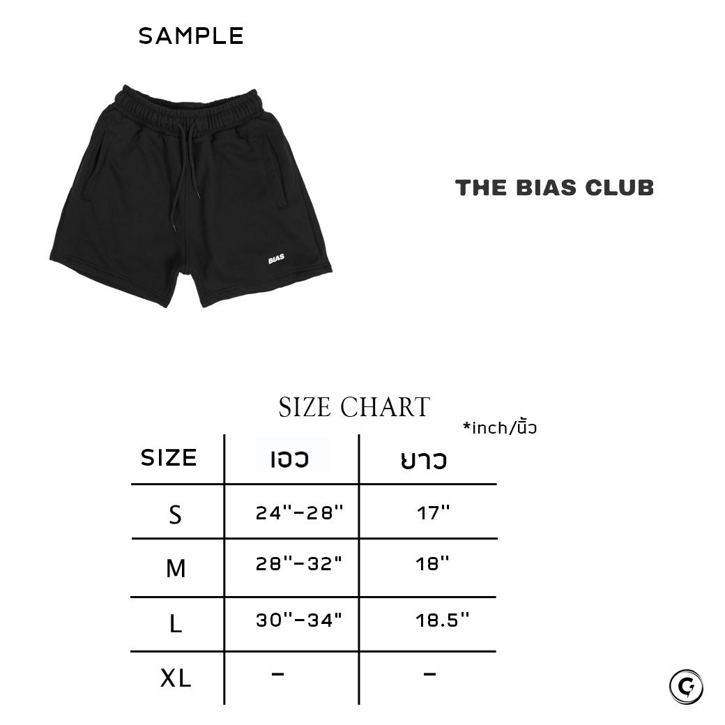THE BIAS CLUB LOGO SHORTS BLACK