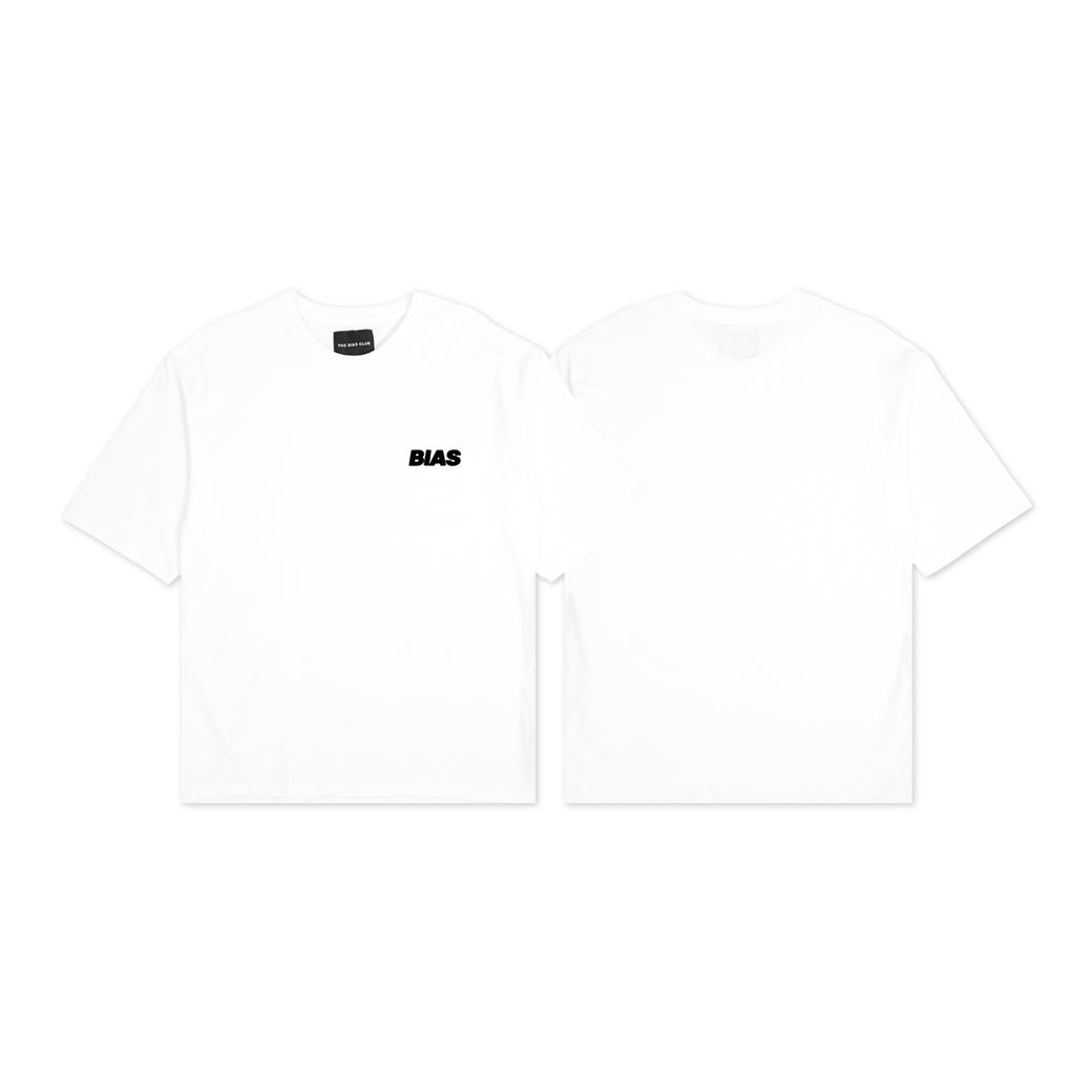THE BIAS CLUB  BASIC LOGO T-SHIRTS WHITE
