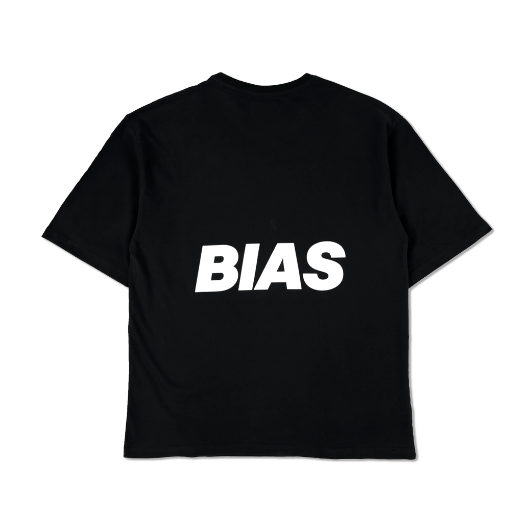 THE BIAS CLUB BIAS BACK TEE BLACK