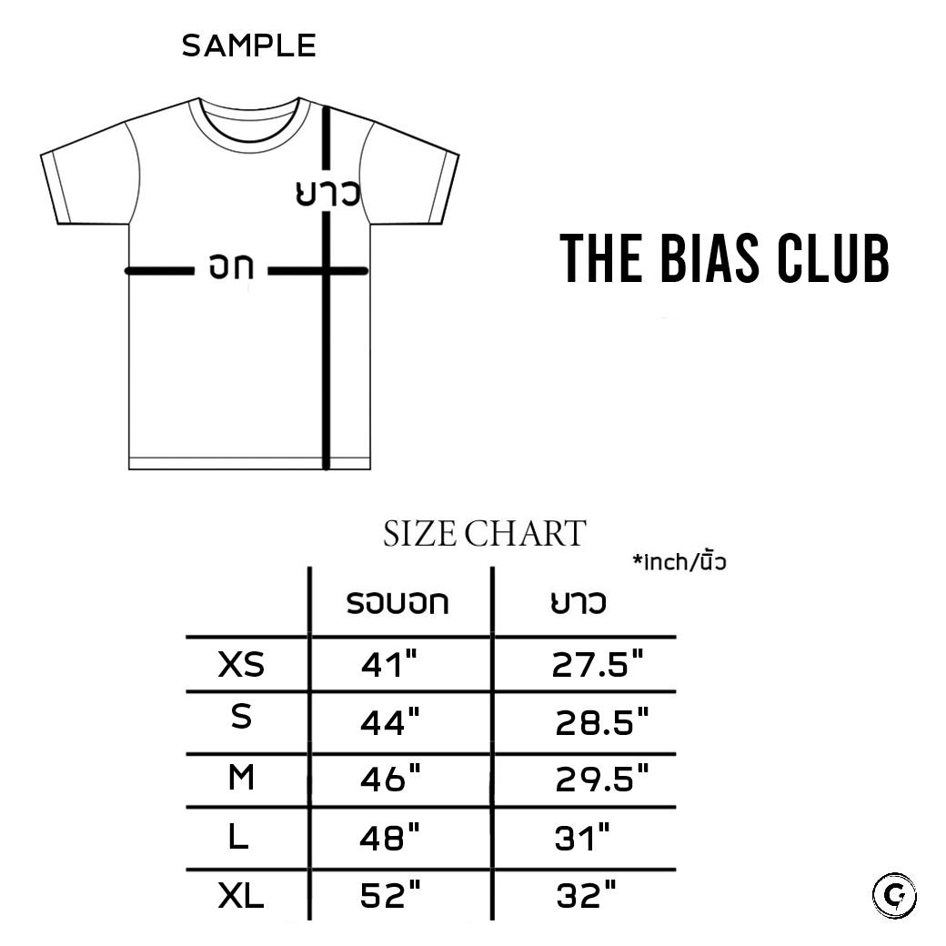 THE BIAS CLUB OVAL LOGO T-SHIRTS GREY