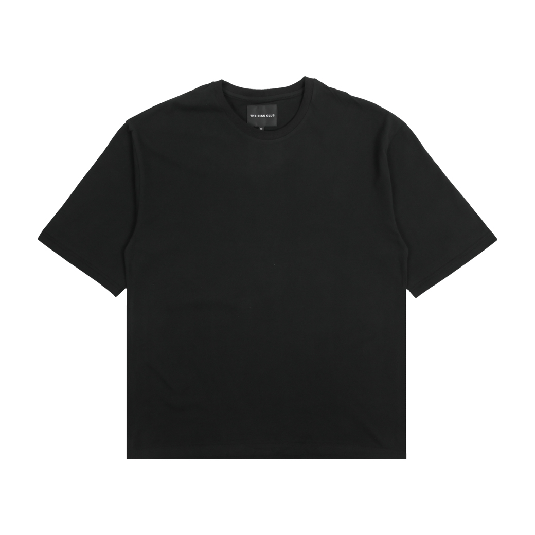 THE BIAS CLUB PLAIN T-SHIRTS BLACK