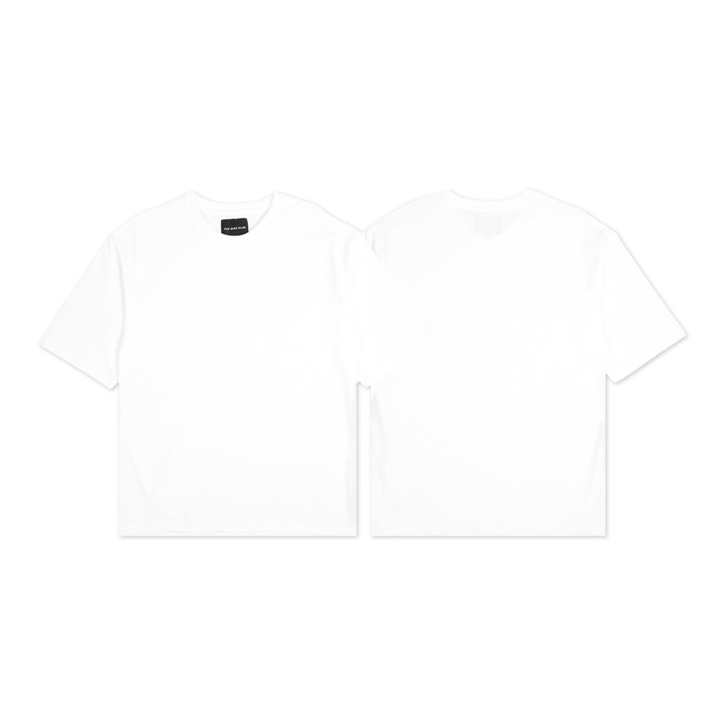 THE BIAS CLUB PLAIN T-SHIRTS WHITE
