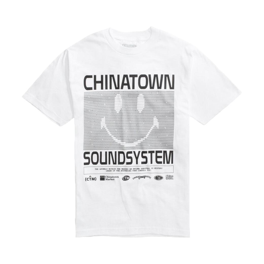 CHINATOWN MARKET SOUND SYSTEM TEE WHITE