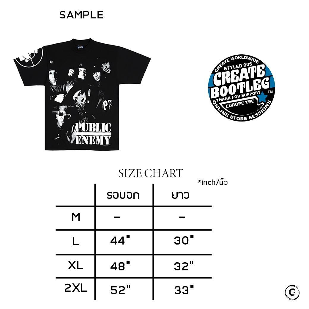 CREATE BOOTLEG PUBLIC ENEMY T-SHIRTS & BAG BLACK