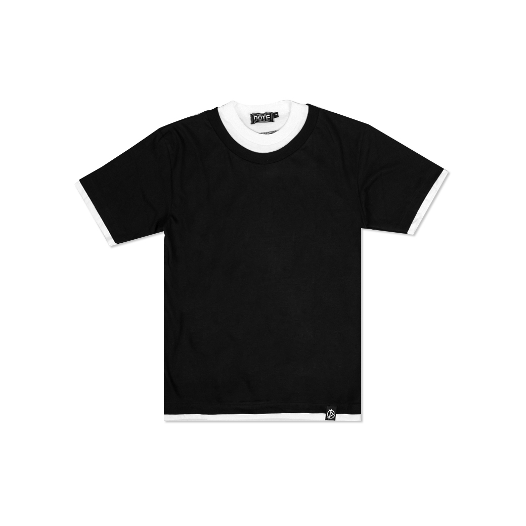 DOTE DOUBLE LAYEAR T-SHIRT BLACK