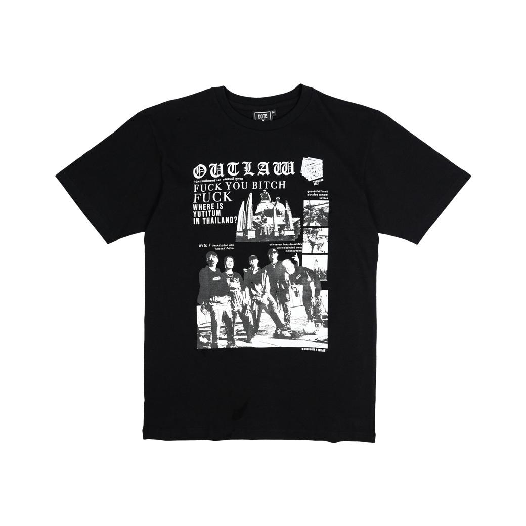 DOTE X OUTLAW T-SHIRT BLACK