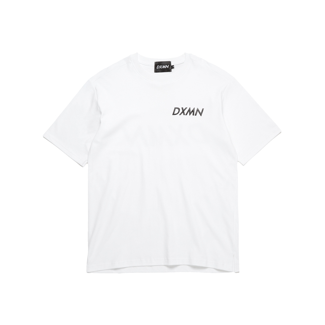 DXMN DOUBLE LOGO CLASSIC TEE WHITE