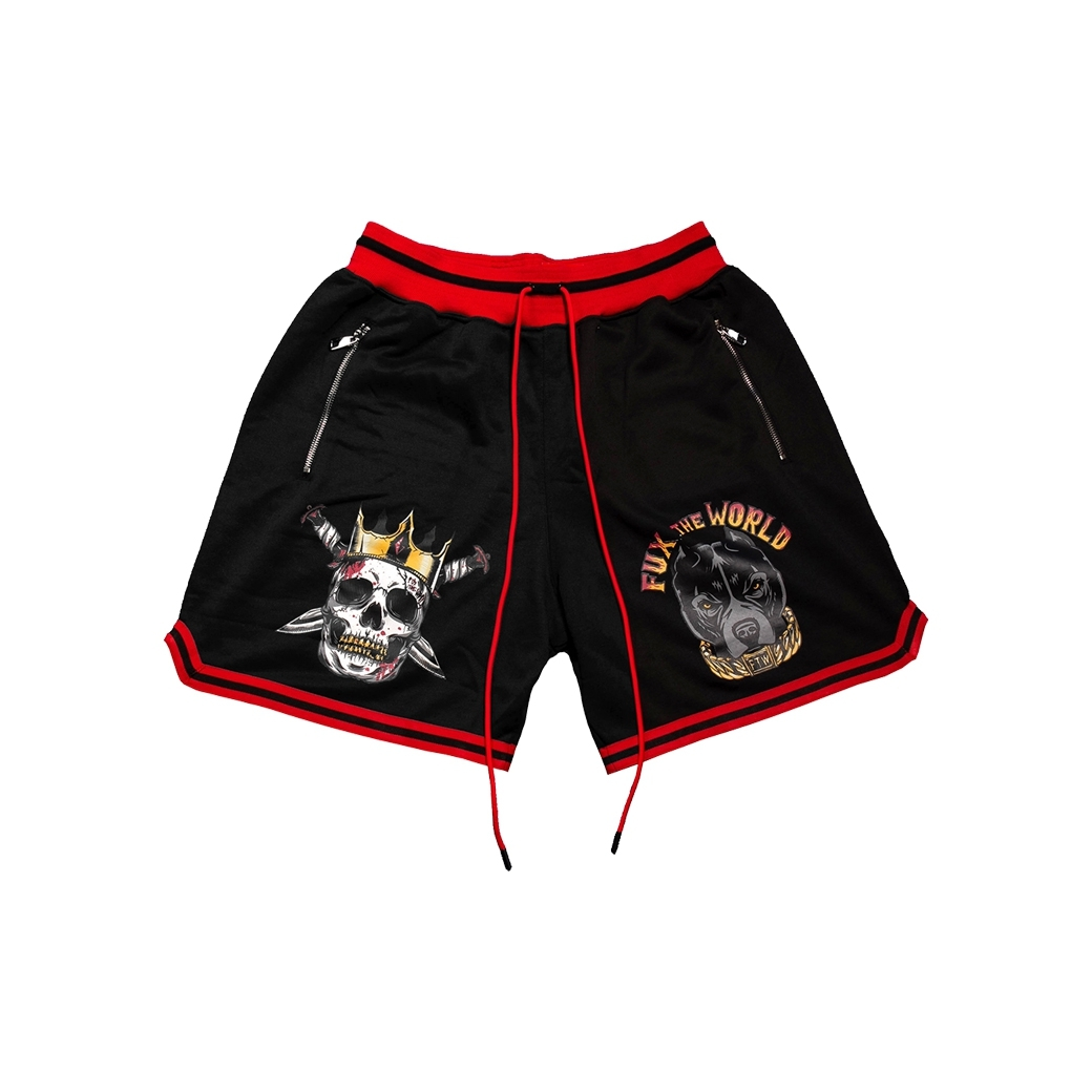 FUX THE WORLD FUX THE HOTTER THAN HELL SHORTS BLACK