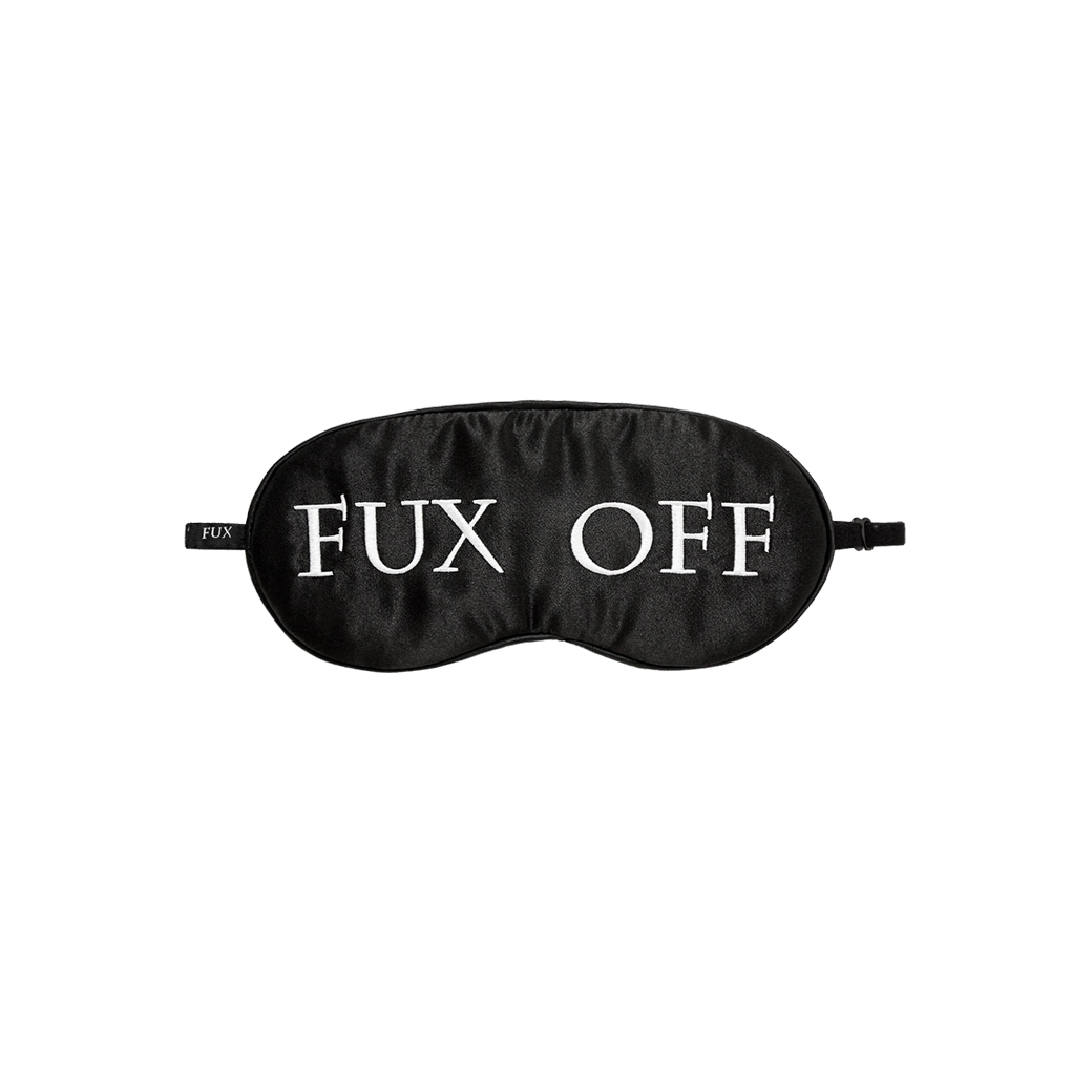 FUXURY FUX OFF SLEEPING MASK BLACK