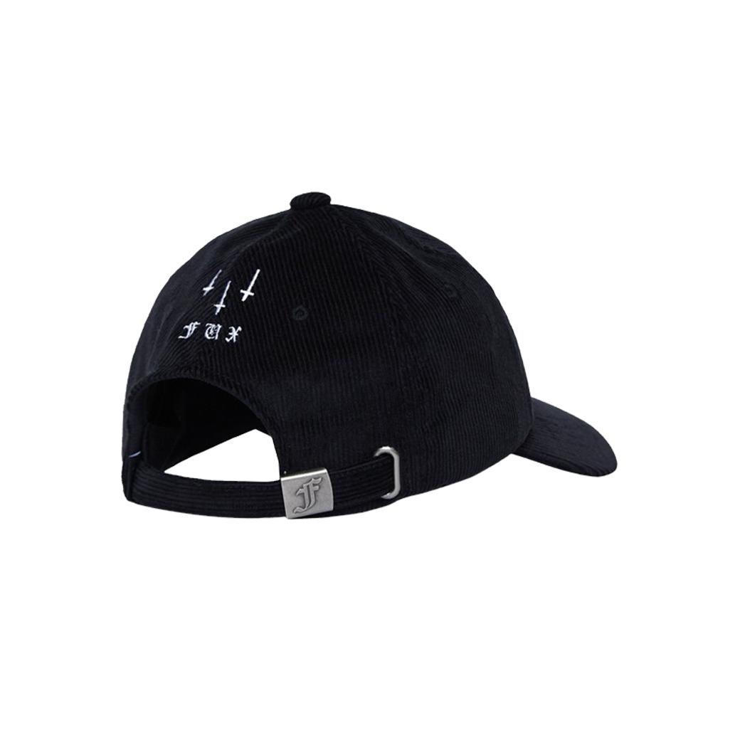 FUXURY EVIL CORDUROY CAP BLACK