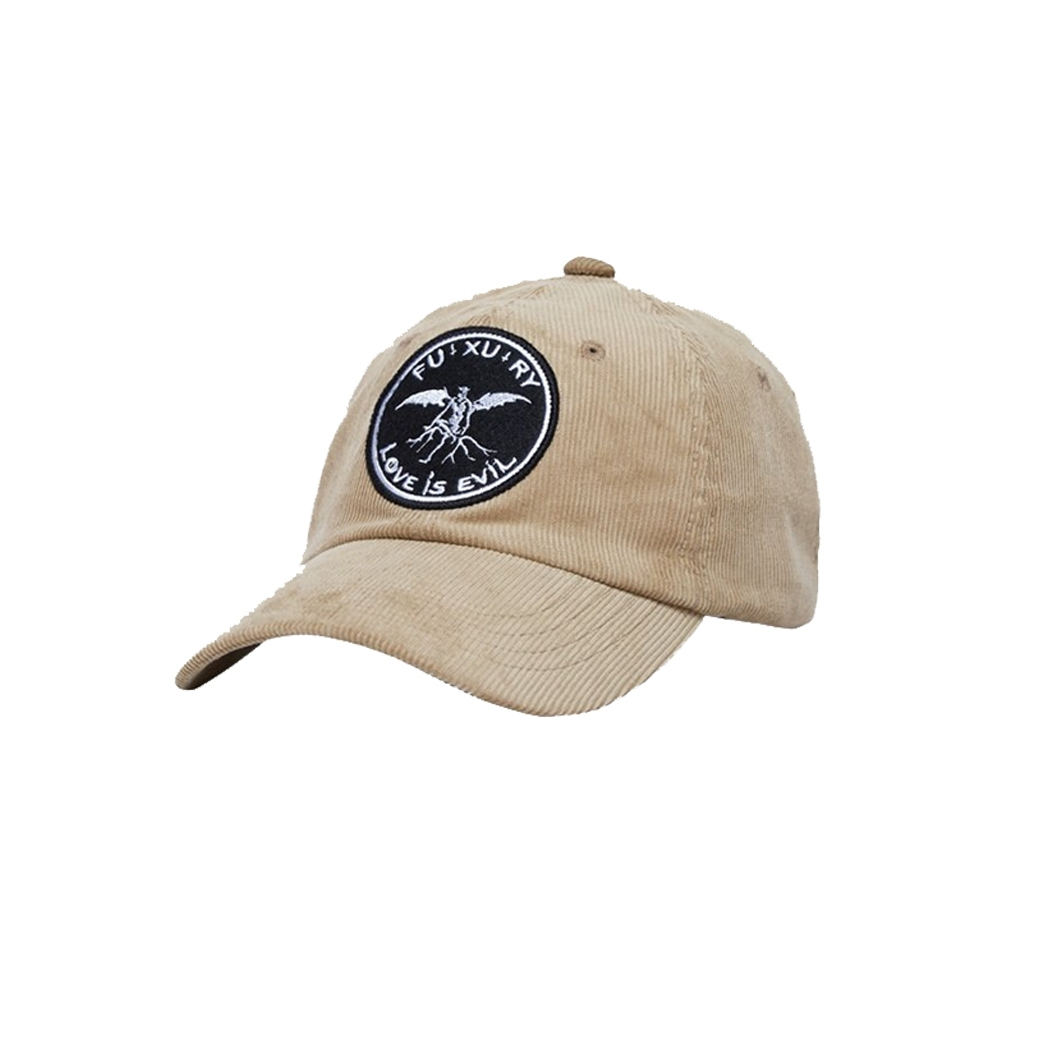 FUXURY EVIL CORDUROY CAP BEIGE