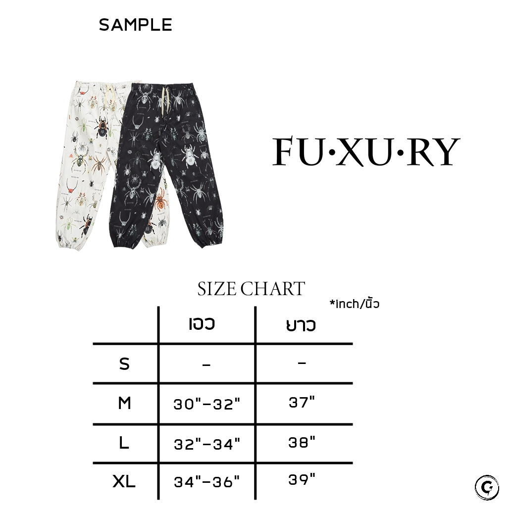 FUXURY TARANTULAS SWEAT PANTS CREAM