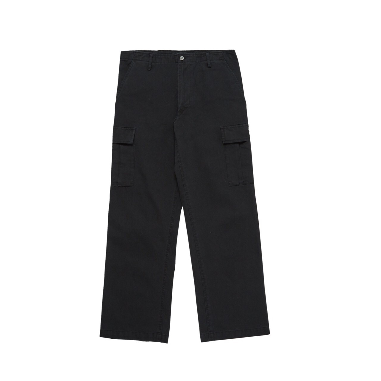 FUXURY SPIDER WASHED CARGO PANTS BLACK