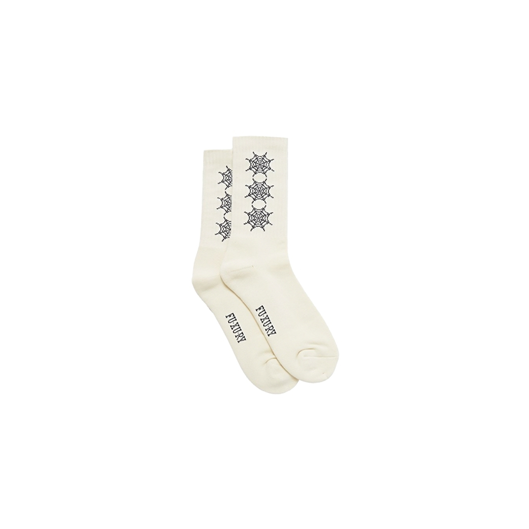 FUXURY SPIDER WEB COMFORT SOCKS WHITE