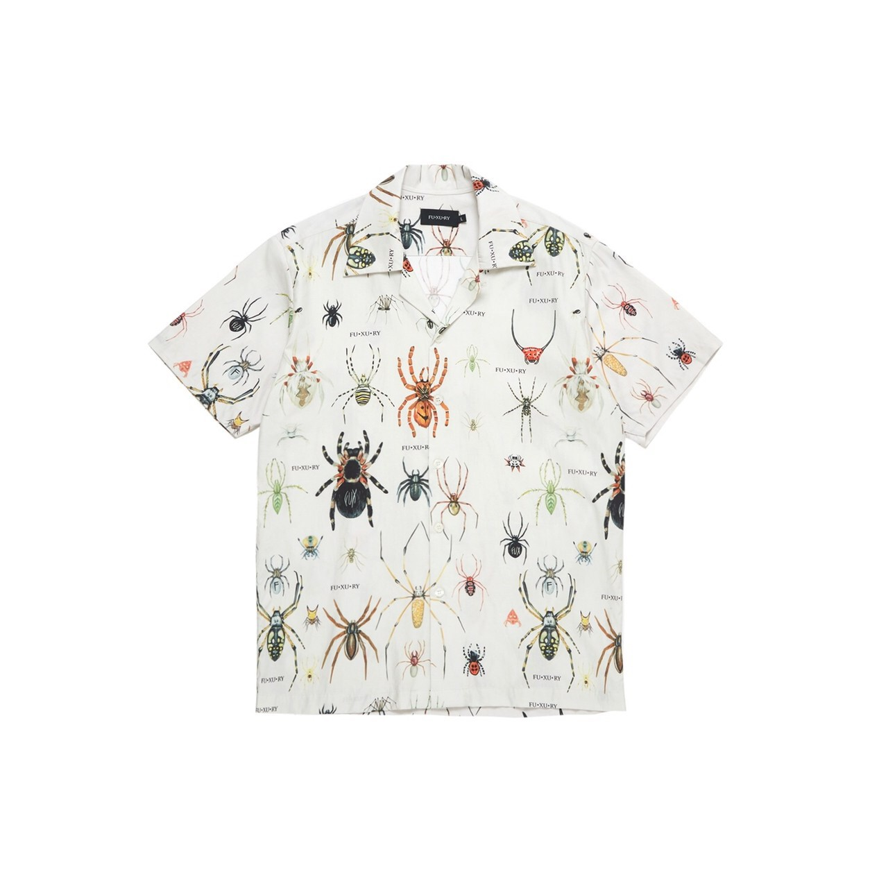 FUXURY TARANTULAS FAM HAWAIIAN SHIRT CREAM