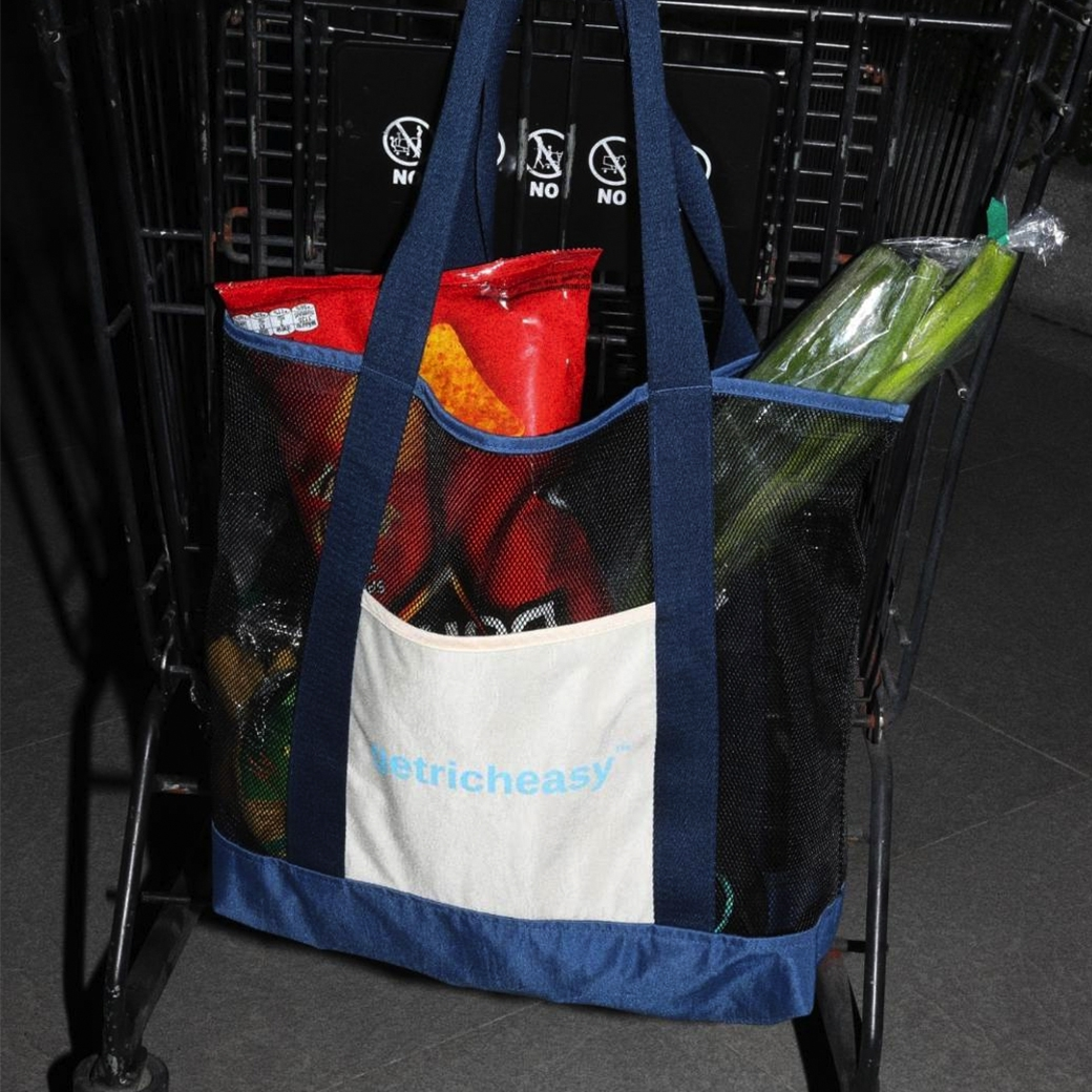 GET RICH EASY SUPERMARKET BAG NAVY
