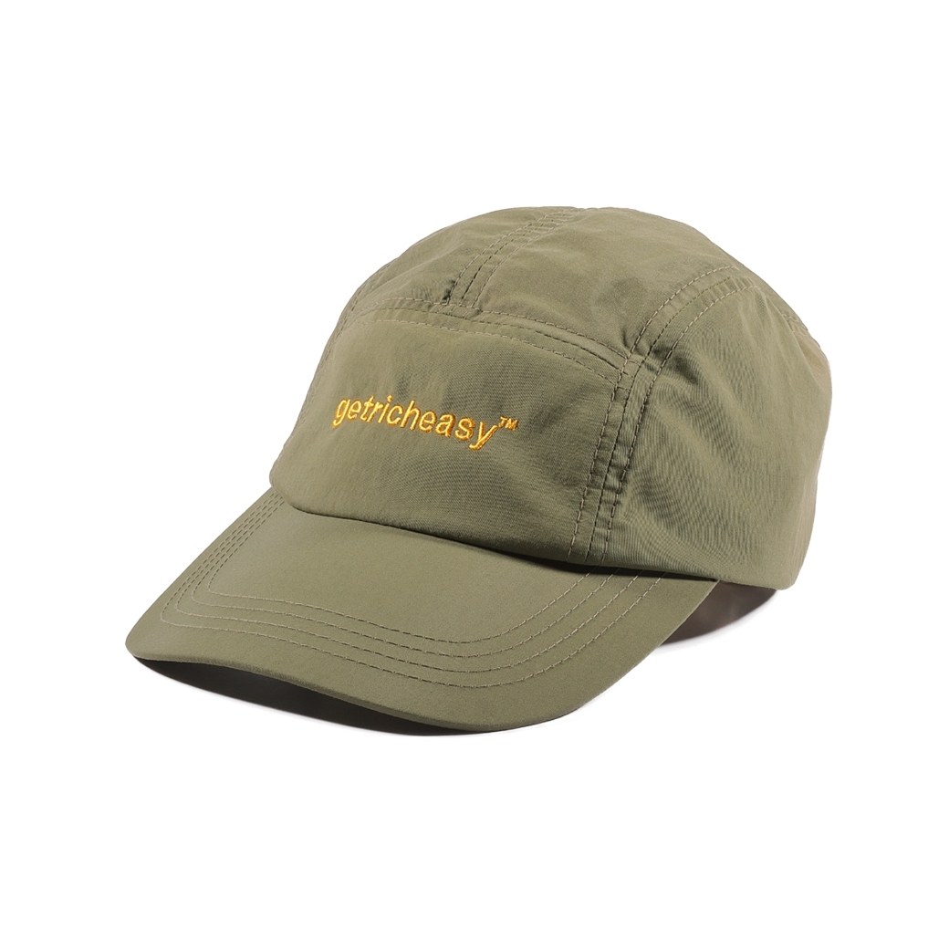 GET RICH EASY OUTDOOR NYLON CAMP CAP ARMY GREEN