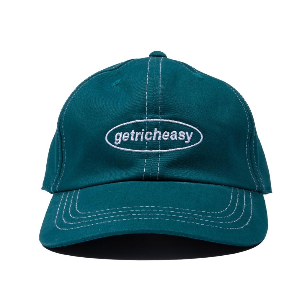 GET RICH EASY STITCH WORK CAP PEACOCK GREEN