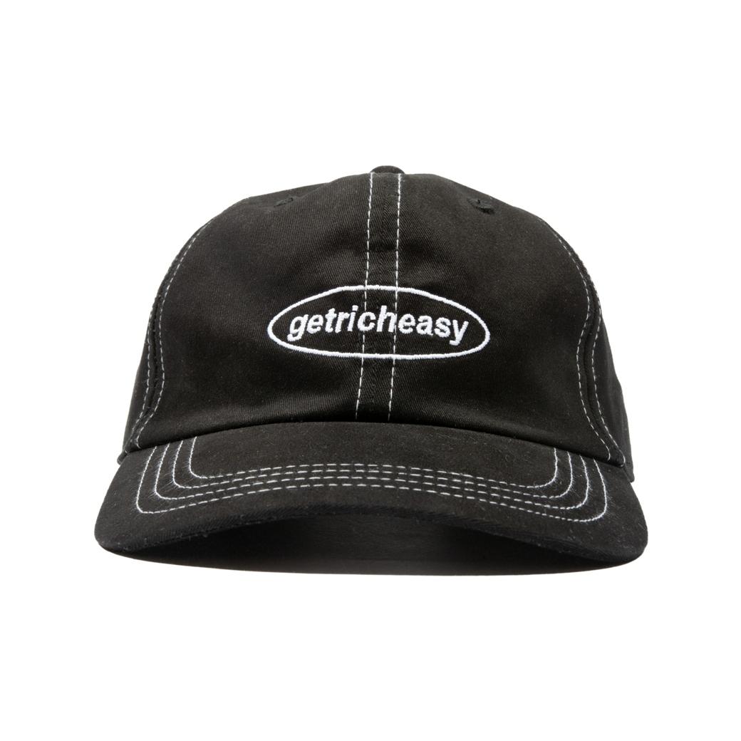 GET RICH EASY STITCH WORK CAP BLACK