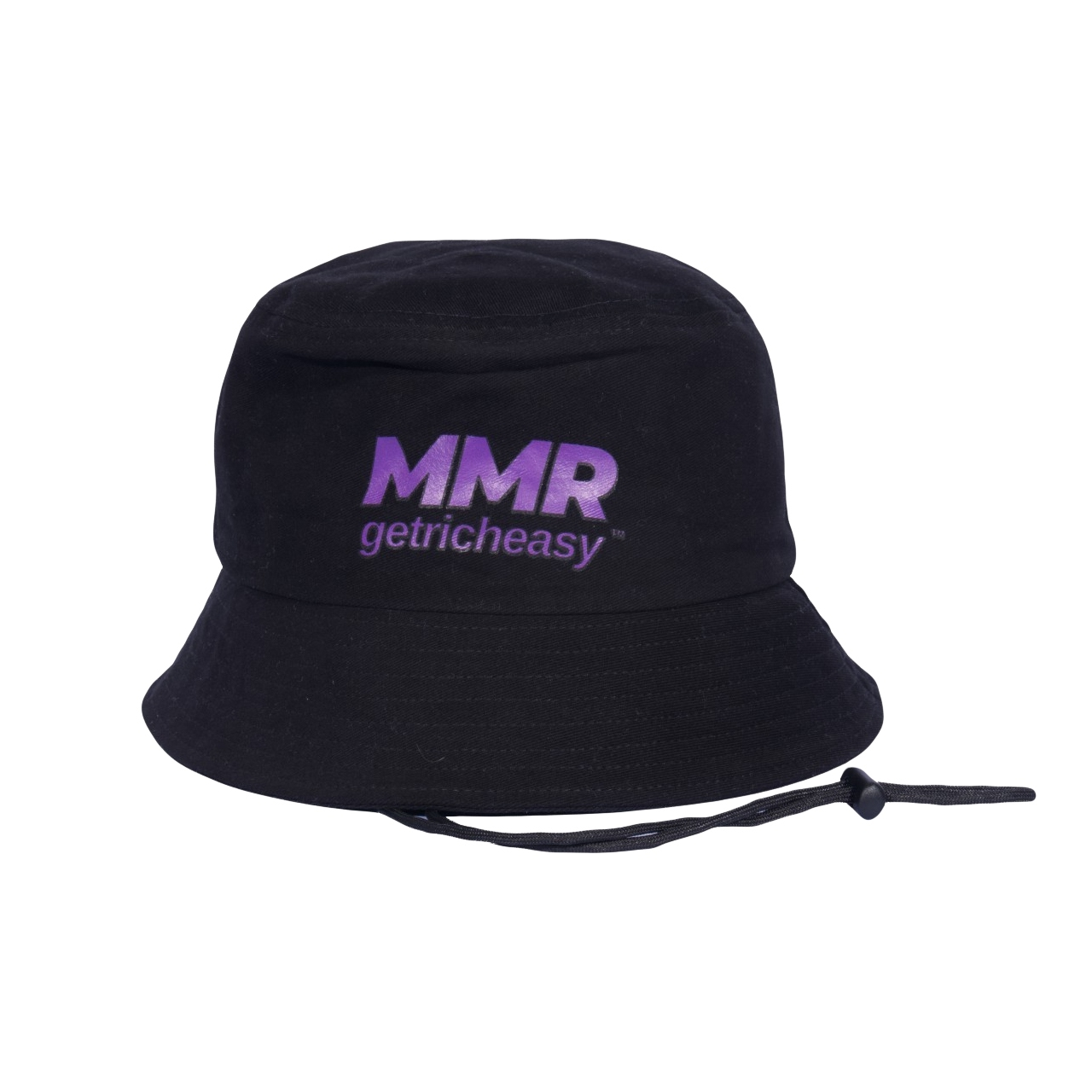 GET RICH EASY X MMR BUCKET HAT BLACK