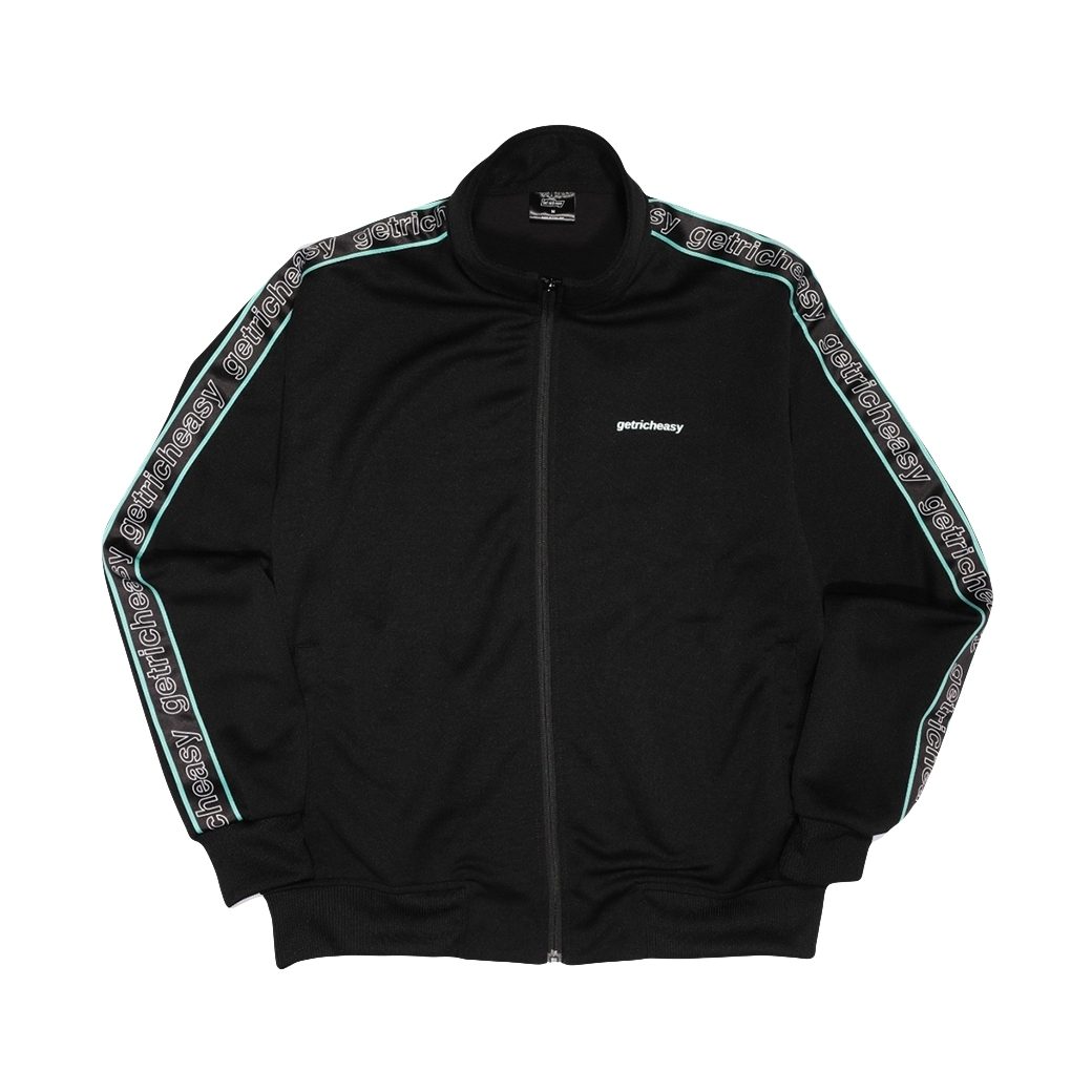 GET RICH EASY TAPED TRACK JACKET BLACK