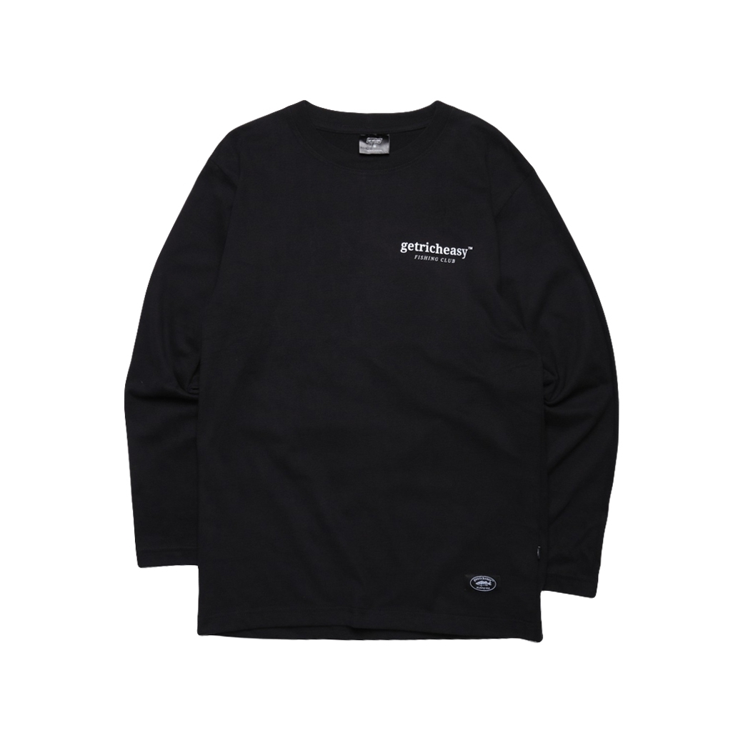 GET RICH EASY FISHING CLUB L/S TEE BLACK