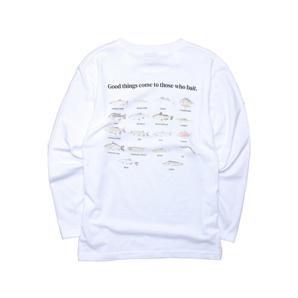 GET RICH EASY FISHING CLUB L/S TEE WHITE