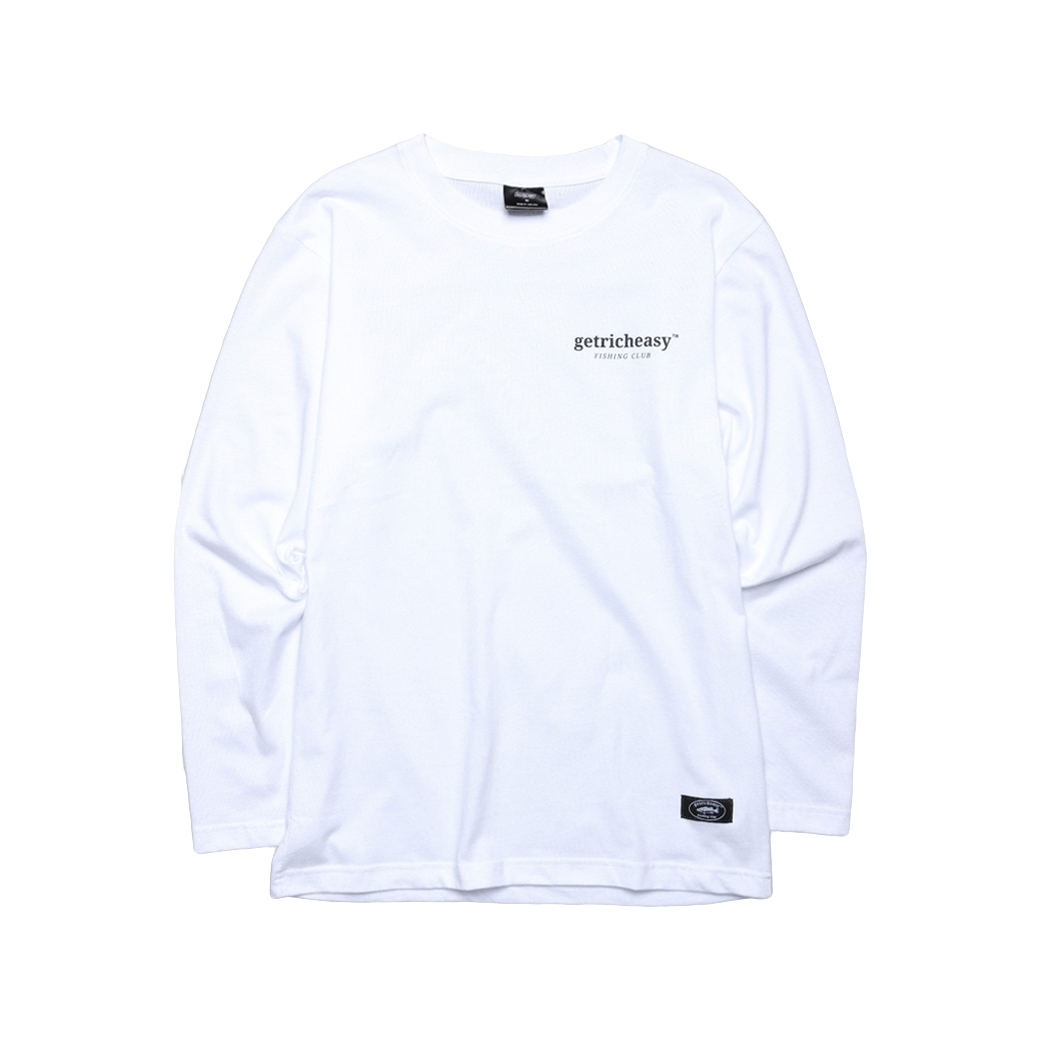 GET RICH EASY FISHING CLUB L/S TEE WHITE