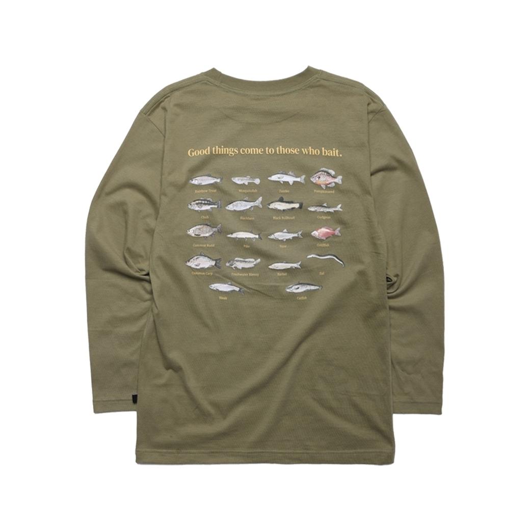 GET RICH EASY FISHING CLUB L/S TEE ARMY