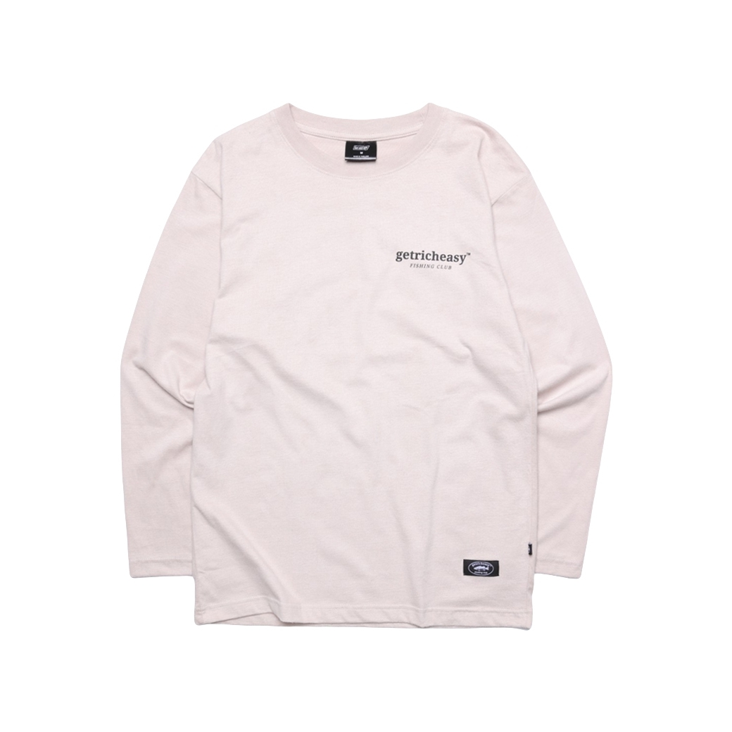 GET RICH EASY FISHING CLUB L/S TEE KHAKI