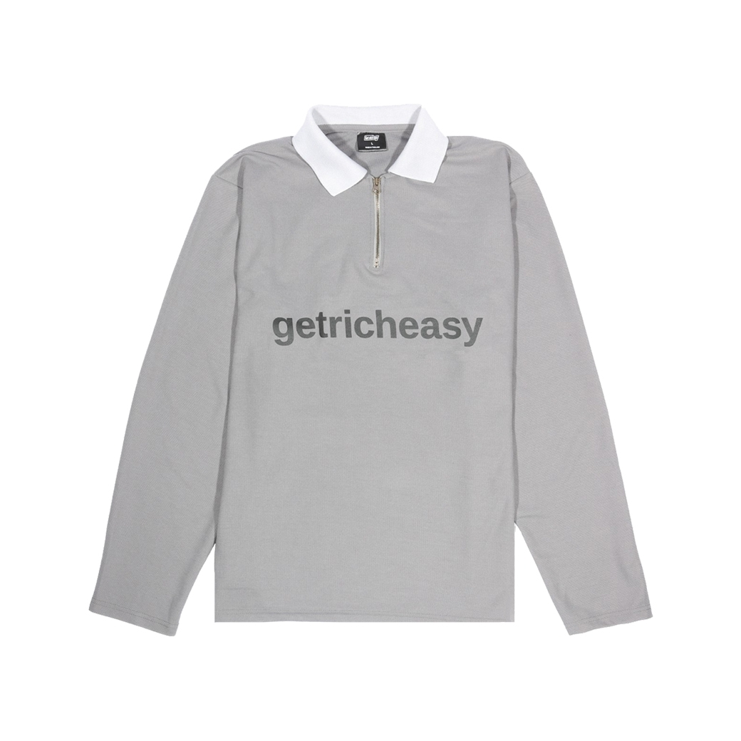 GET RICH EASY POLO L/S GREY