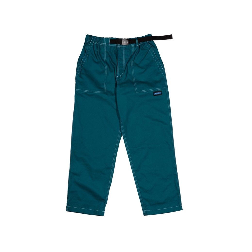 GET RICH EASY STITCH WORK PANTS PEACOCK GREEN